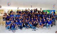 Parte do grupo do Falcões Motoclube de Guarulhos, que este ano completa 19 anos
