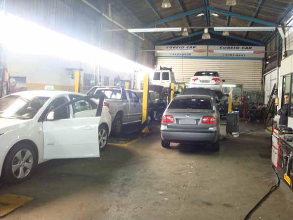 Entre os serviços que oferece, destaque para os consertos de motores (eletrônicos e carburados), sistema de direção, suspensão, freios, ar-condicionado, autoelétrico e manutenção em GNV