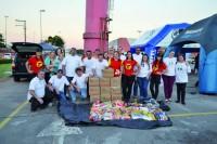 Foram mais de 60 veículos avaliados e 200 kg de alimentos arredados na última edição