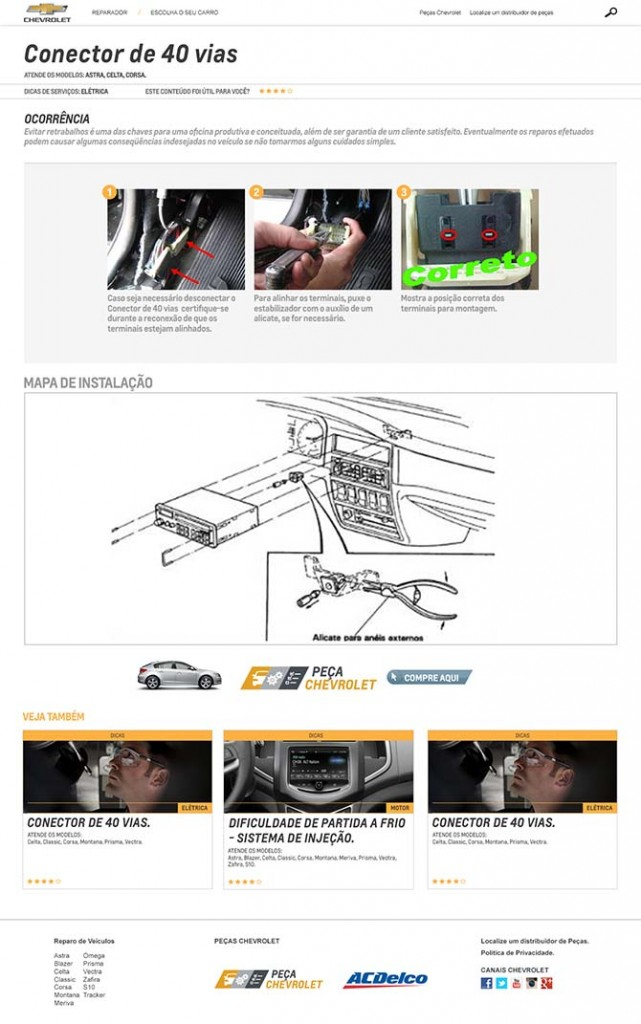Dica técnica do site Reparador Chevrolet
