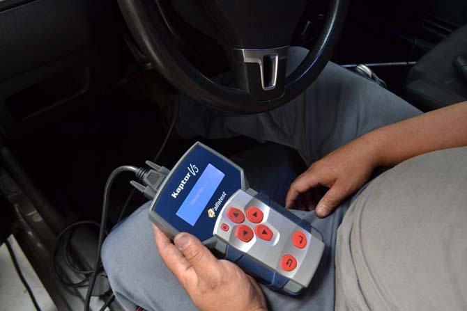 O scanner Kaptor V3, da Alfatest, que realizou o procedimento com sucesso