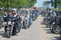 Motociclistas chegam ao salão